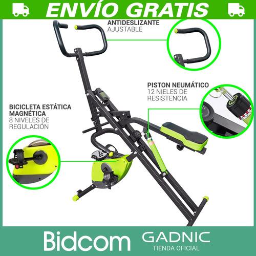 ejercitador de abdominales +  bicicleta magnetica - 2 en 1