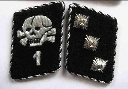ejército alemán  collar tabs de las ss