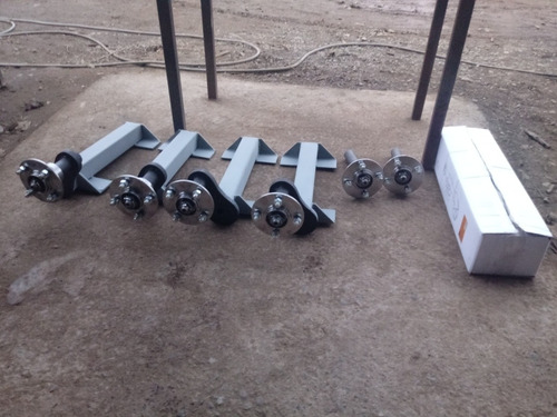 ejes de torsion ajustable 800kg galvanizados 4x100 enganche
