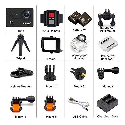 eken h9r cámara de acción 4k wifi cámara impermeable fullhd