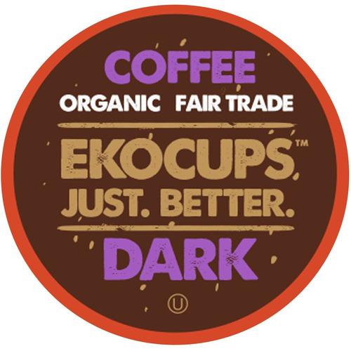 ekocups artesanales orgánicos café oscuro, tostado oscuro, r