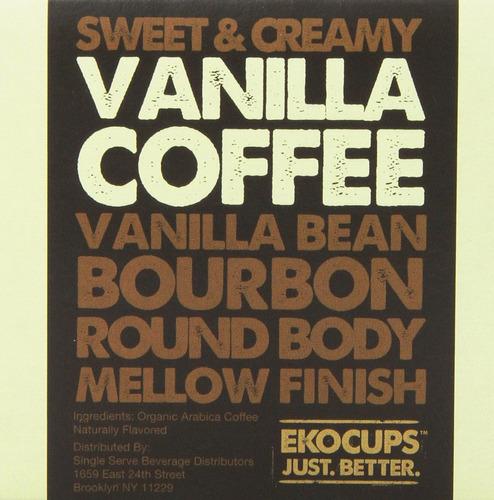 ekocups café artesanal orgánico con sabor a vainilla, asa