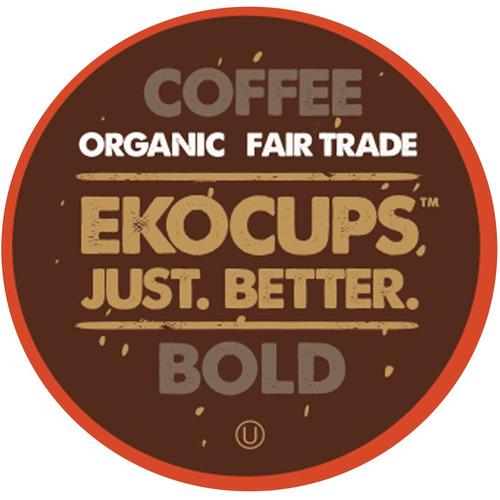ekocups café audaz artesanal orgánico, asado oscuro, en t