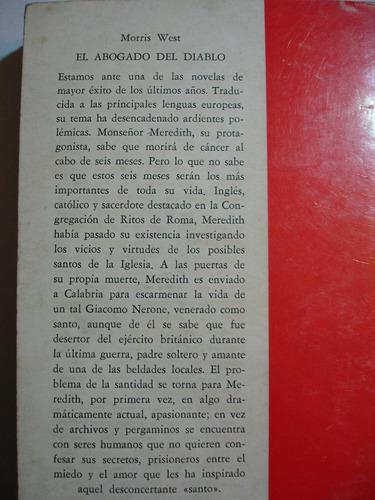 el abogado del diablo  morris west  ed: pomaire  ed. 1968