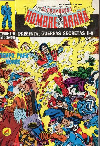 el a.hombre araña 28, guerras secretas ii-9, ed novedade1988