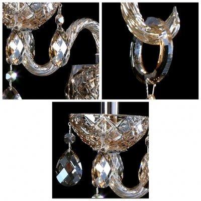 el aplique de pared de cristal doble de lujo de fei luxury o