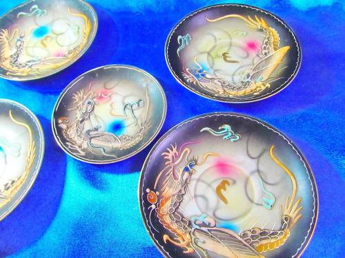 el arcon 5 platos porcelana made in japan  12 cm 24104