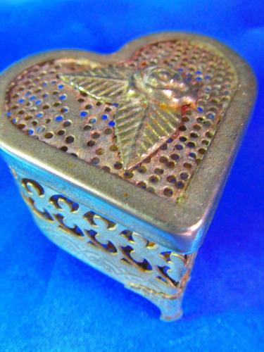 el arcon alhajero despojador metal forma de corazon  5536