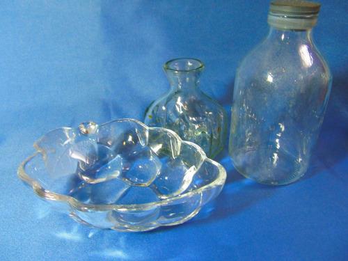 el arcon alhajero despojador y dos botellas de vidrio 12027