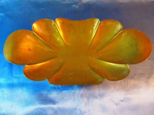 el arcon antigua bandeja centro de mesa de bronce  34062