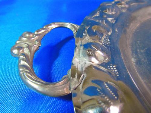 el arcon antigua bandeja centro de mesa de metal 38cm 47052