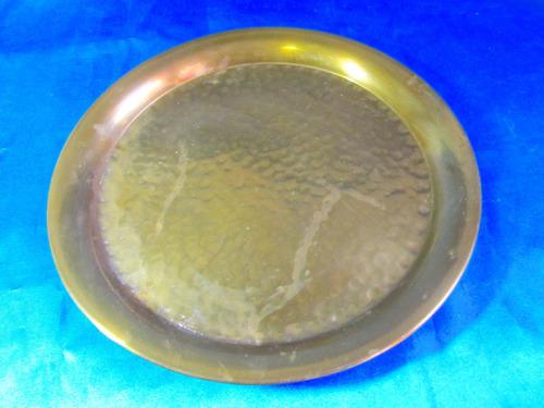 el arcon antigua bandeja redonda de bronce 23060