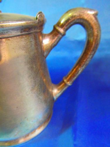 el arcon antigua cafetera plata los mellizos 13 x 19cm 12055