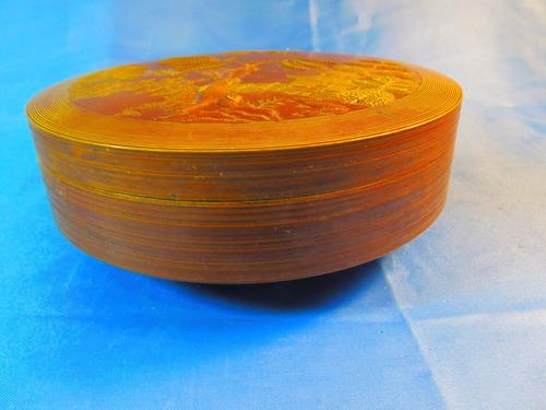 el arcon antigua caja de madera labrada 18,5cm 53514
