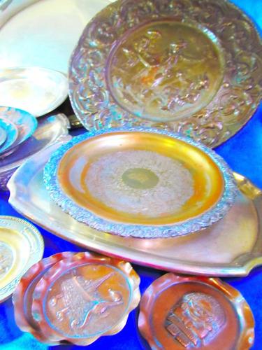 el arcon antigua copa miniatura de metal 8,5 cm  5530