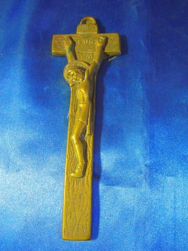 el arcon antigua figura d bronce jesucristo en la cruz 17061