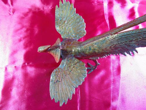 el arcon antigua figura de bronce ave egipcia 39cm 61500