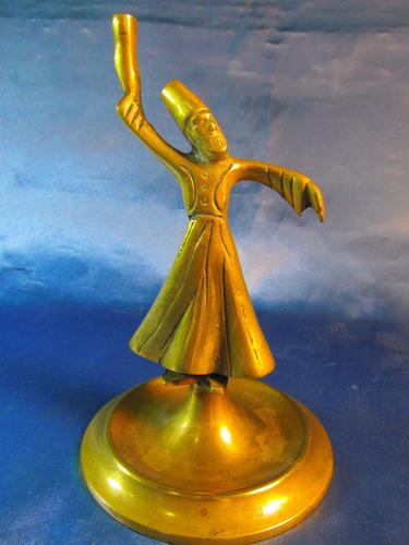 el arcon antigua figura de bronce cuerpo de lampara 37057
