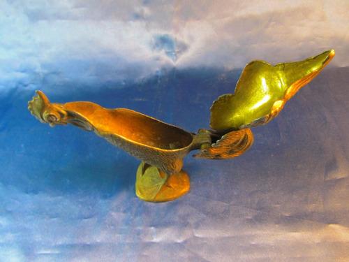 el arcon antigua figura de bronce motivo de gallo 15cm 39063
