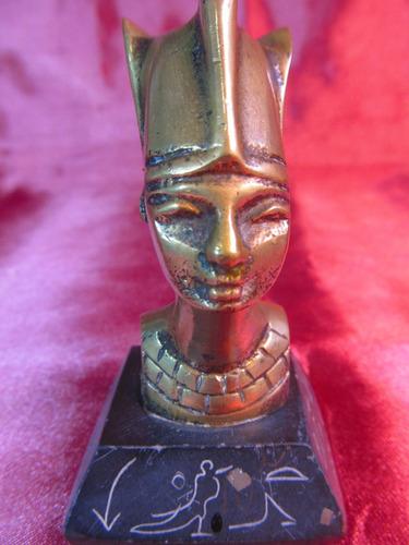 el arcon antigua figura egipcia nefertiti de bronce 49503