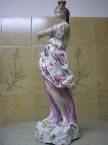 el arcon antigua  figura porcelana samson dama antigua 19cm
