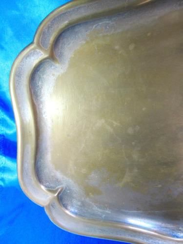 el arcon antigua gran bandeja baño plata toledo 50cm 3517