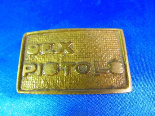 el arcon antigua hebilla de bronce sex pistols 6,4x4cm 11559