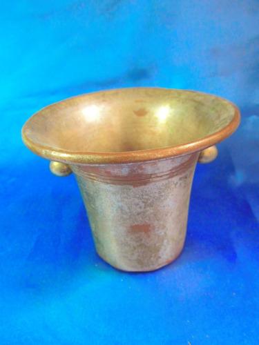 el arcon antigua hielera  metal con baño plateado 10cm 5519