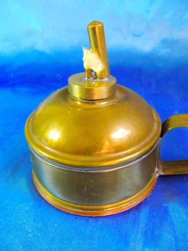 el arcon antigua lampara de aceite de bronce 23058