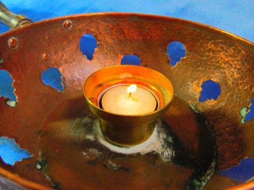 el arcon antigua lampara de artesanal de cobre 31cm 14052