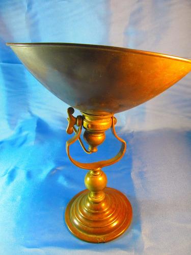 el arcon antigua lampara de mesa de cobre 28,5cm 51056