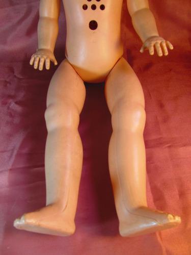 el arcon antigua muñeca colombo de plastico  59cm 47500