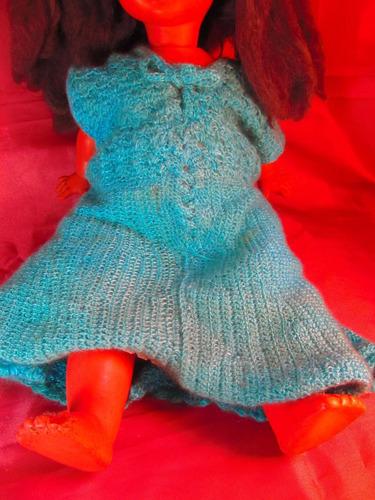 el arcon antigua muñeca de plastico duro 53cm 47501