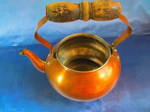 el arcon antigua pava de cobre 19cm x 18cm 31085