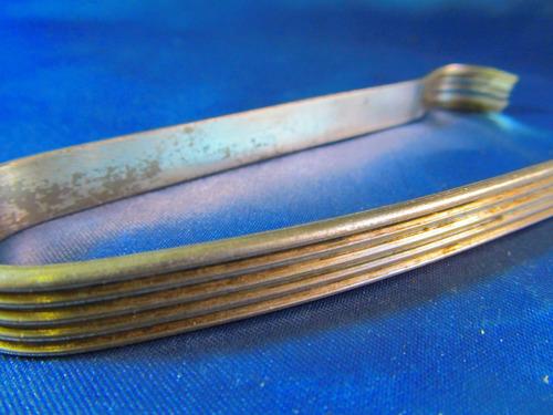 el arcon antigua pinza para hielo de plata 13cm 2519