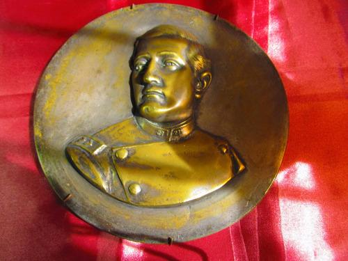 el arcon antigua placa de bronce de metal pesada 22cm 31080
