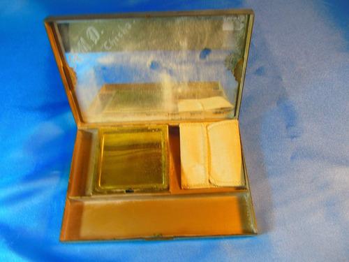 el arcon antigua polvera de bronce con espejo 14cm 52080