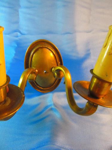 el arcon antiguo aplique de bronce de dos luces  44053