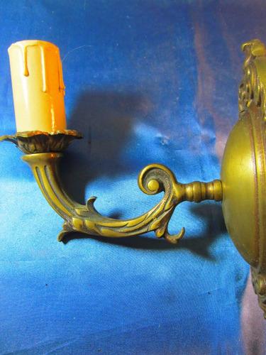 el arcon antiguo aplique de pared de bronce una luz   32078