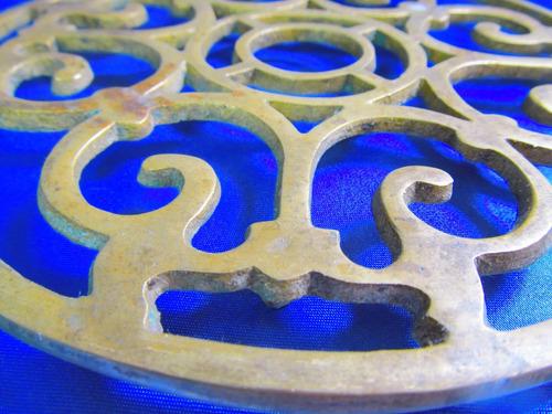el arcon antiguo apoya pava de bronce diametro 20 cm 8501