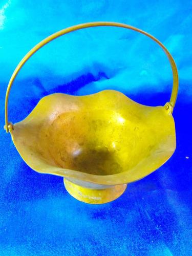 el arcon antiguo balde de bronce con manija 12 cm  2503