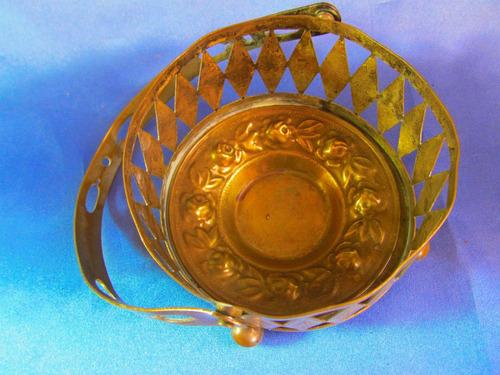 el arcon antiguo balde portahielera de metal 10,5cm  m1126