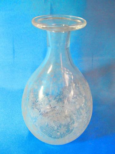 el arcon antiguo botellon cristal tallado al acido 11024
