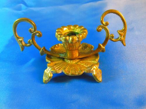 el arcon antiguo candelabro de bronce de una vela 15cm 44059