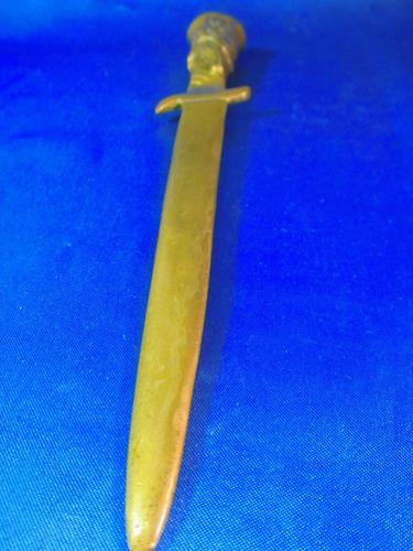 el arcon antiguo cuchillo daga abrecartas bronce 25cm 13070