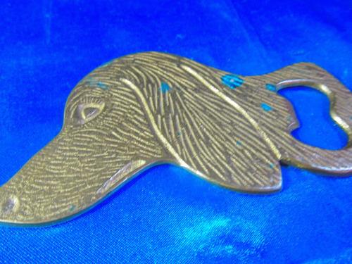 el arcon antiguo destapador de bronce motivo perro 46504