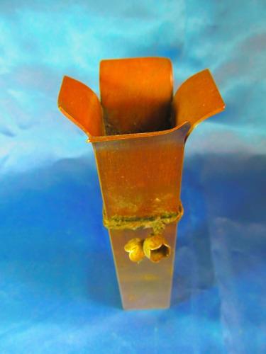 el arcon antiguo florero de bronce 15,4cm x 3,2cm 11566