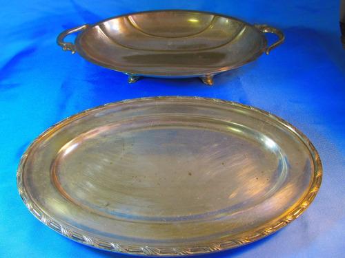 el arcon antiguo par de bandejas de plata toledo 47053