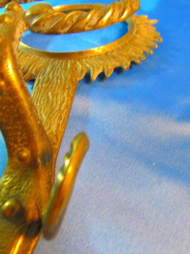 el arcon antiguo perchero percha de bronce trabajado 44084