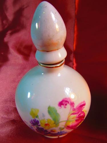 el arcon antiguo perfumero de porcelana floreada 16cm 41107